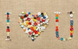 boutonne le fond de coeur Le jour de Valentine Photo libre de droits