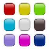 boutonne le positionnement coloré Images stock