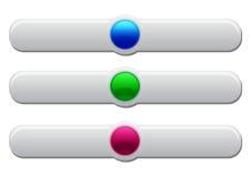 boutonne le Web en plastique Images libres de droits