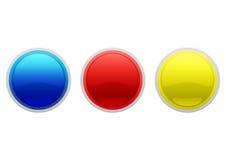 boutonne le Web lustré Photo stock