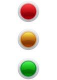 boutonne le Web lustré Image stock