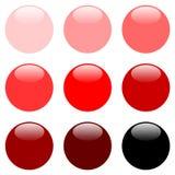 boutonne le Web rond rouge Photographie stock