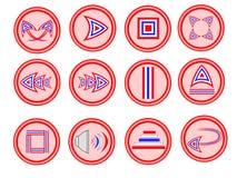 Boutonnez l'icône thaïlandaise Images libres de droits