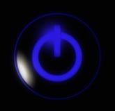 Boutonnez le pouvoir bleu Photo libre de droits