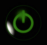 Boutonnez le vert de pouvoir Images libres de droits