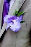 Boutonniere, ślubny męski accesory Fotografia Royalty Free