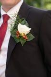 Boutonniere, петлица, wedding украшение костюма groom Стоковые Фото
