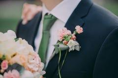 Boutonniere свадьбы Стоковые Фотографии RF
