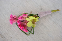 Boutonniere. Image of a creatively designed boutonniere royalty free stock photos