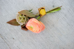 Boutonniere. Image of a creatively designed boutonniere royalty free stock photo