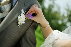 Boutonniere Royalty Free Stock Photo