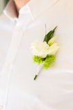 Boutonniere on chest close up. Stock Photography