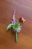 Boutonniere com planta carnuda fotografia de stock royalty free