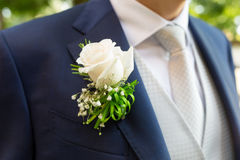 Boutonniere dans le smoking photographie stock
