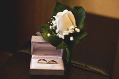 Boutonniere de la boda Imagen de archivo libre de regalías