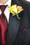 Boutonniere de marié Photos libres de droits