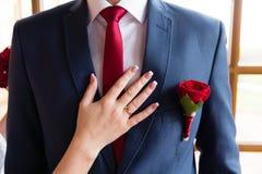 Boutonniere de mariage Images stock
