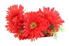Boutonniere dei fiori artificiali sintetici rossi Fotografie Stock Libere da Diritti