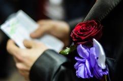 Boutonniere di nozze Fotografia Stock Libera da Diritti