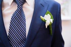 Boutonniere do casamento Imagens de Stock