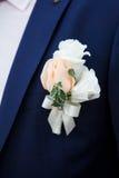 Boutonniere do casamento Imagens de Stock Royalty Free