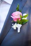 Boutonniere do noivo Fotos de Stock