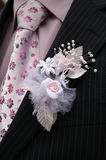 Boutonniere groom. Boutonniere groom in wedding suit pocket Stock Image