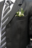 Boutonniere groom. In wedding suit pocket Royalty Free Stock Photos