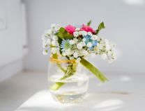 Boutonniere for the groom Flower bouquet royalty free stock image