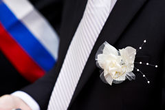 Boutonniere for groom's suit Royalty Free Stock Photos