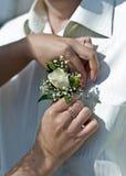 boutonniere ślub Zdjęcia Royalty Free
