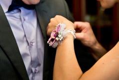Boutonniere para el novio Imágenes de archivo libres de regalías