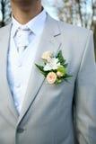 Boutonniere para la chaqueta Foto de archivo libre de regalías