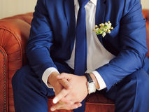 Boutonniere in Pocket Royalty Free Stock Image