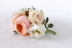 Boutonniere with roses Royalty Free Stock Photography