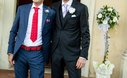 Boutonniere in tuxedo Royalty Free Stock Photography