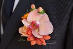 Boutonniere van de bruidegom Royalty-vrije Stock Fotografie