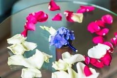 Boutonniere van de bruidegom royalty-vrije stock foto