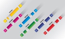 Boutons électroniques de glisseur, contrôle audio Photographie stock libre de droits