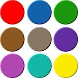 Boutons 3D circulaires Photo libre de droits