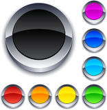 Boutons 3d ronds. illustration stock
