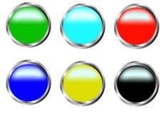boutons Photos libres de droits