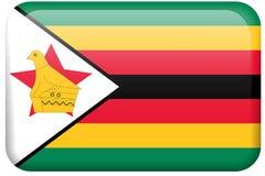 Boutons africains d'indicateur : Le Zimbabwe Photo libre de droits