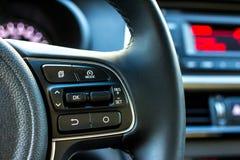 Boutons audio de contrôle de voiture Photo stock