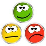 boutons avec des visages d'émotion illustration libre de droits