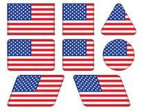 Boutons avec le drapeau des Etats-Unis Photos libres de droits