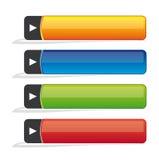 Boutons blanc de site Web Photo stock