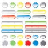 Boutons blanc de Web Illustration de vecteur Image libre de droits