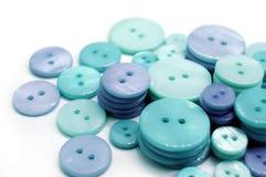Boutons bleus Photo libre de droits