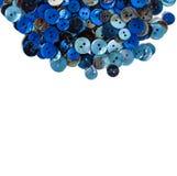 Boutons bleus Photo stock